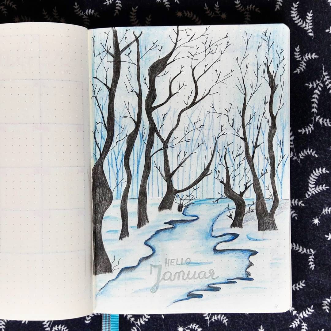 "@bujolove778 on Instagram: ""Hello January! ... Design by @lifeinabujo #BuJo #BulletJournal #bujodeutschland #bujojunkies #bulletjournaltitlepage…"""