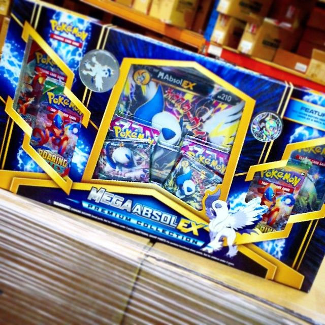 It's finally here!!!!!!!! #pokemon#megaabsolex The Pokemon Mega Absole EX Premium Collection pack is in the warehouse and being shipped off around Australia shortly, make sure you keep your eyes open for it in your local toy and hobby stores