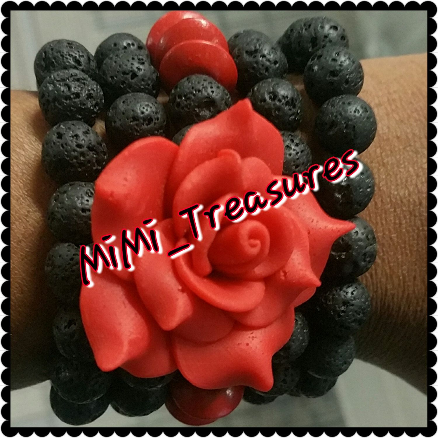 Red Rose Lava by MiMiTreasures2 on Etsy