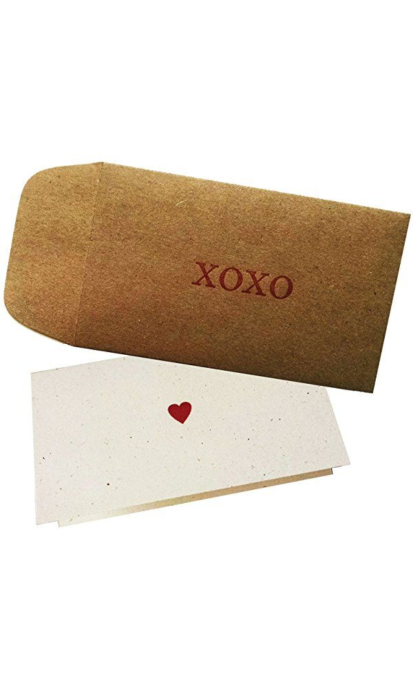 XOXO Envelope with Love Note Heart Card - pack of 4 Best Price