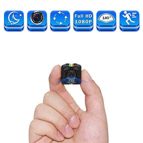 Amazon Com Mini Spy Hidden Camera Full Hd 1080p Smallest Spy Body Camera With Night Vision And Home Security Monitoring Home Security Systems Hidden Camera