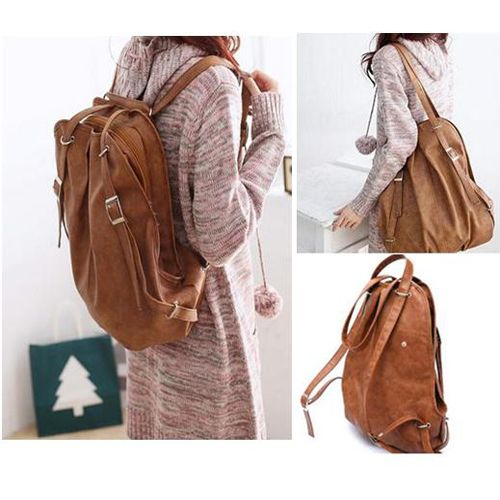 3683de802c Hot 3 Color 2 in 1 Women Bag PU Leather Backpack Shoulder Bag Travel Bags  Girl s Student School Backpacks Bags