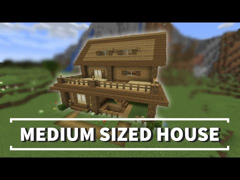 2 Medium Sized Wood Minecraft House Tutorial Easy Youtube Minecraft House Tutorials Minecraft Houses Easy Youtube