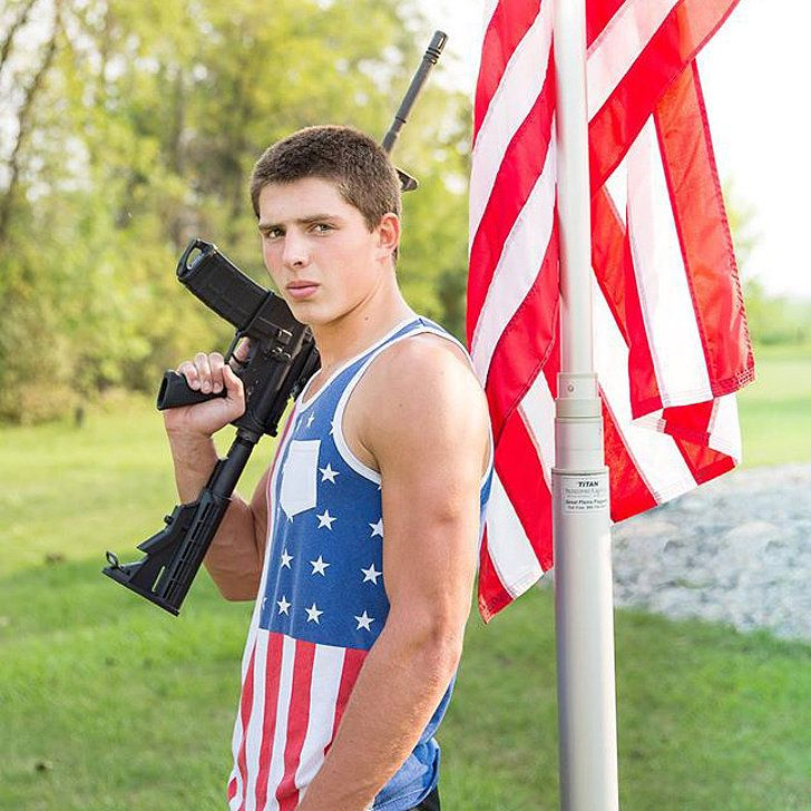 Should This Student Be Allowed to Pose With a Rifle For His Yearbook Picture?