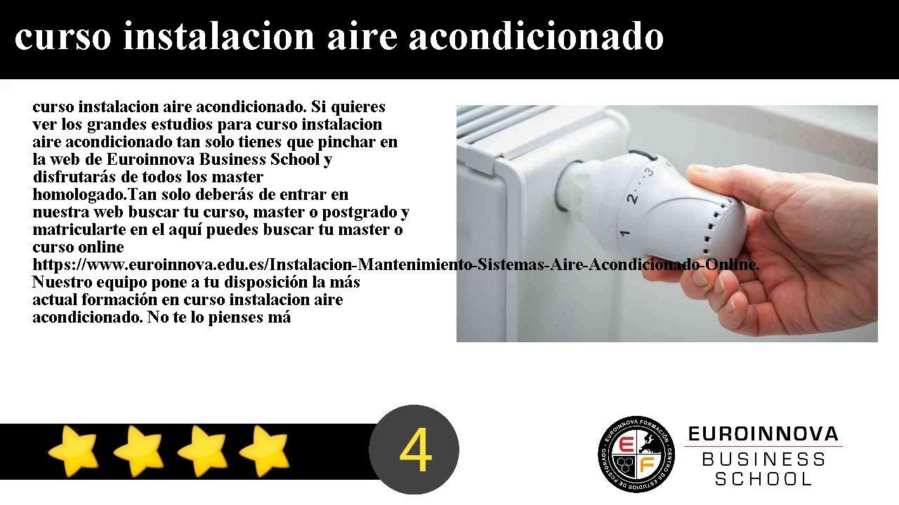 Pin de Juan Sanchez en curso instalacion aire