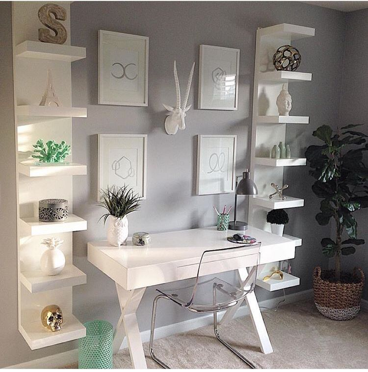 Small desk area. Well done! in 2019 Home decor, Small