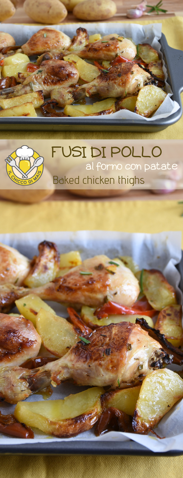 Photo of Baked chicken drumsticks with potatoes