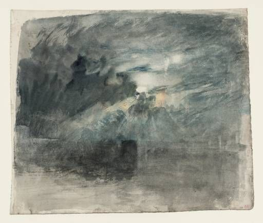 Artwork page for 'The Moon Behind Clouds: ?Study for 'Shields Lighthouse'', Joseph Mallord William Turner, c.1823-6