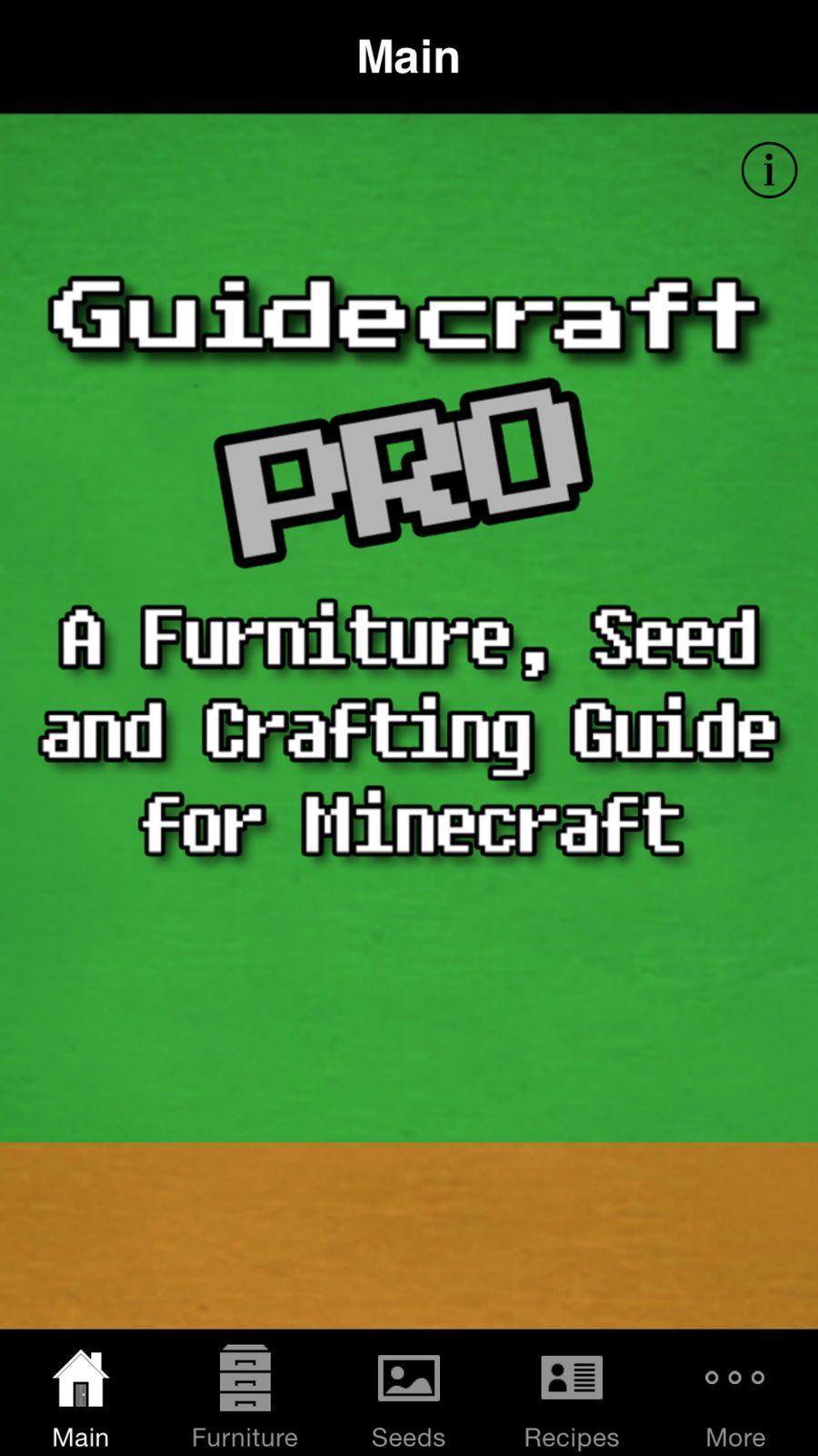 Guidecraft Pro Furniture, Seeds.. for Minecraft Games