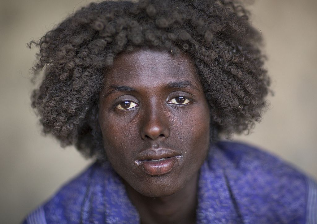 Afar Tribe Man With Curly Hair Assayta Ethiopia Curly Hair Men Haircuts For Men Ethiopian Hair