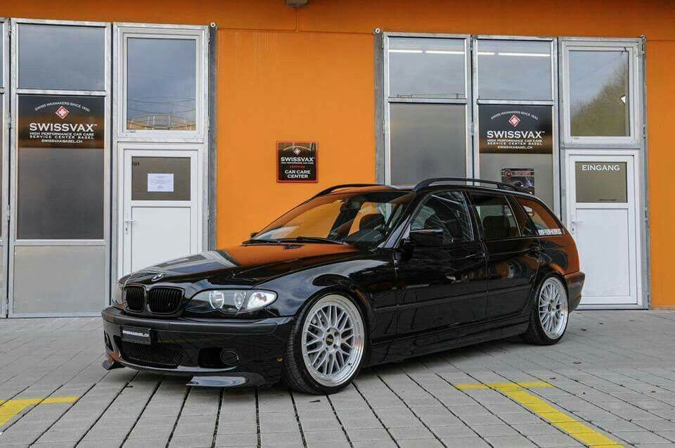 Bmw E46 3 Series Touring Black With Images Bmw Wagon Bmw