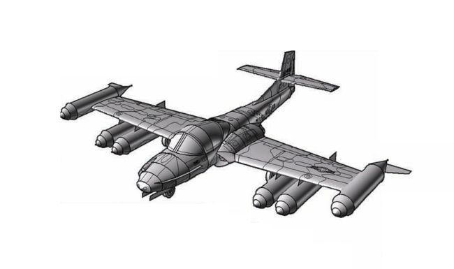Cessna A 37 Dragonfly Attack Aircraft Paper Model Free Download