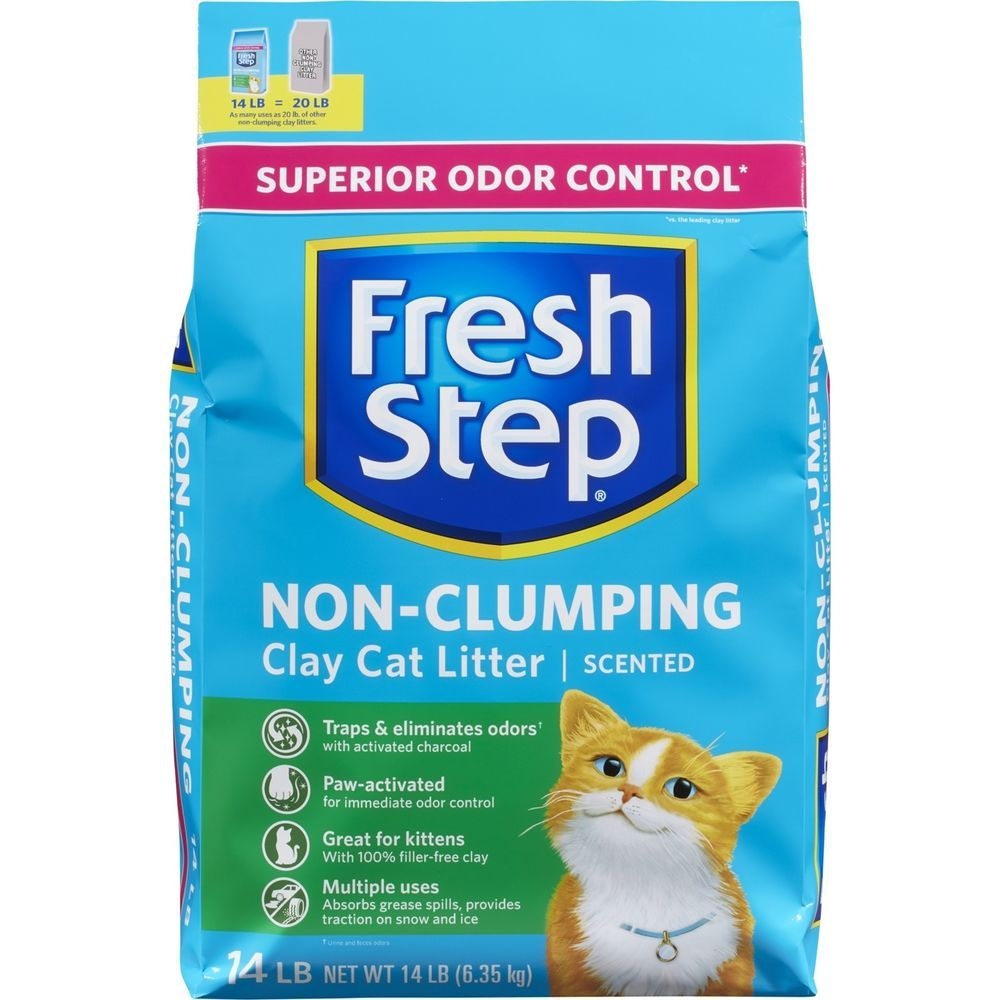 Fresh Step Scented Non Clumping Clay Cat Litter 14 Lbs Freshstep Clay Cat Litter Cat Litter Clay Cats