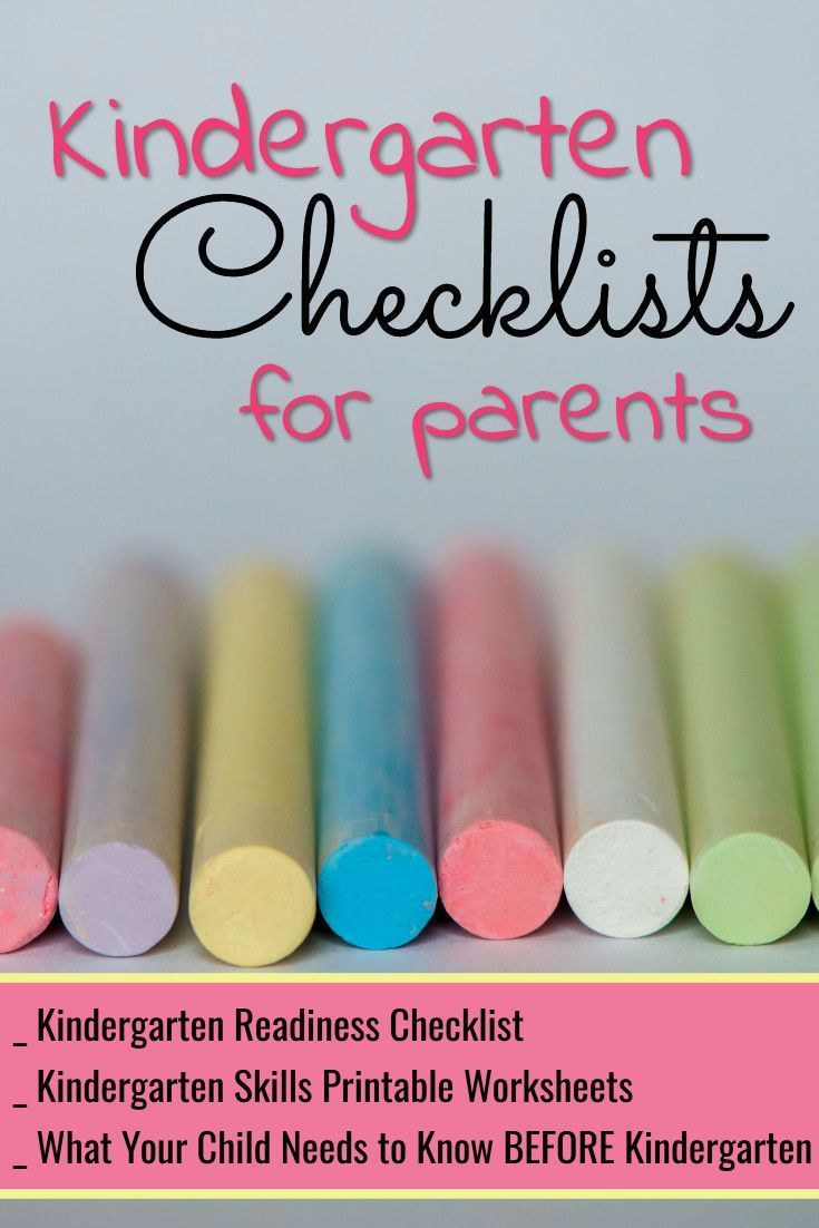 Kindergarten Checklists 2018 - Free Printable Readiness Checklists ...
