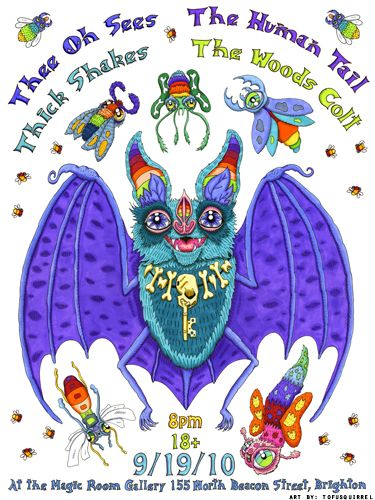 thee oh sees bat poster