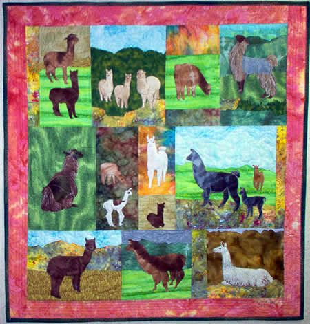 Llamas Amp Alpacas Pattern Quilts Cotton Pieced