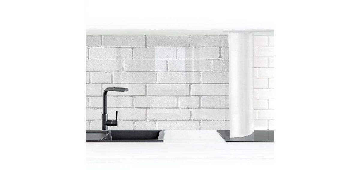 Bilderwelten Küchenrückwand »White Stonewall« | OTTO