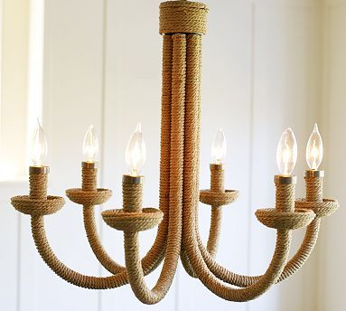 Pottery Barn Chandy Knock Off Rope Chandelier Ceiling Lights Rope Lamp