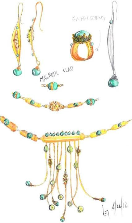 Jewelry collection designed by Revere Student, Lei Hocking in a Masters Symposium class