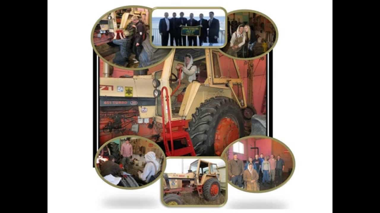 """Ned Stoller, Michigan AgrAbility Assistive Technology Specialist, """"I've been doing AgrAbility work for 13 years from the Ohio River to Lake Superior. This workday was one of the highlights of my career. To have a group of six guys from Alpha Gamma Rho fraternity spend a day on the farm with a young guy who just had a spinal cord injury, adapting 3 tractors with special steps, handrails, and hand control lever on the clutch. It was a wonderful day!"""""""