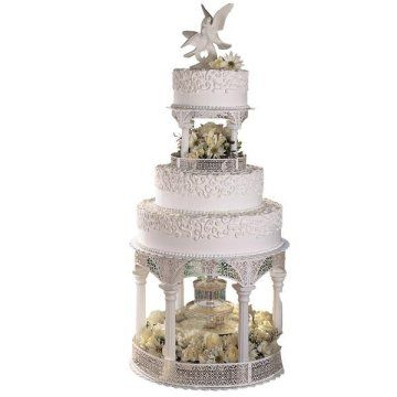 Wilton Wedding Cake Pillars | Love The Embossed Look Of These Separator  Plates By Wilton.