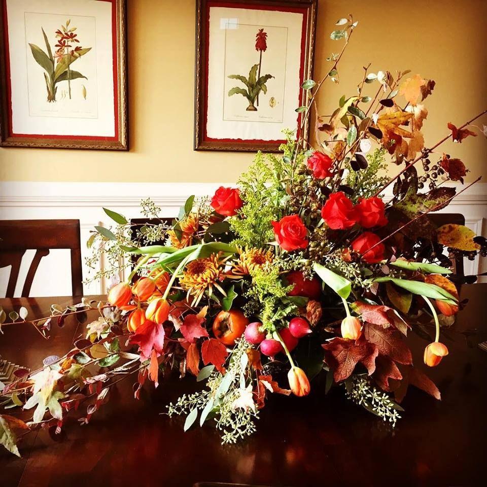Thanksgiving floral centerpiece Thanksgiving floral