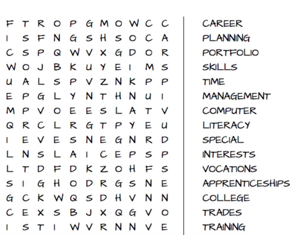 Career Planning Word Search Career Planning Computer Literacy Career [ 798 x 1000 Pixel ]