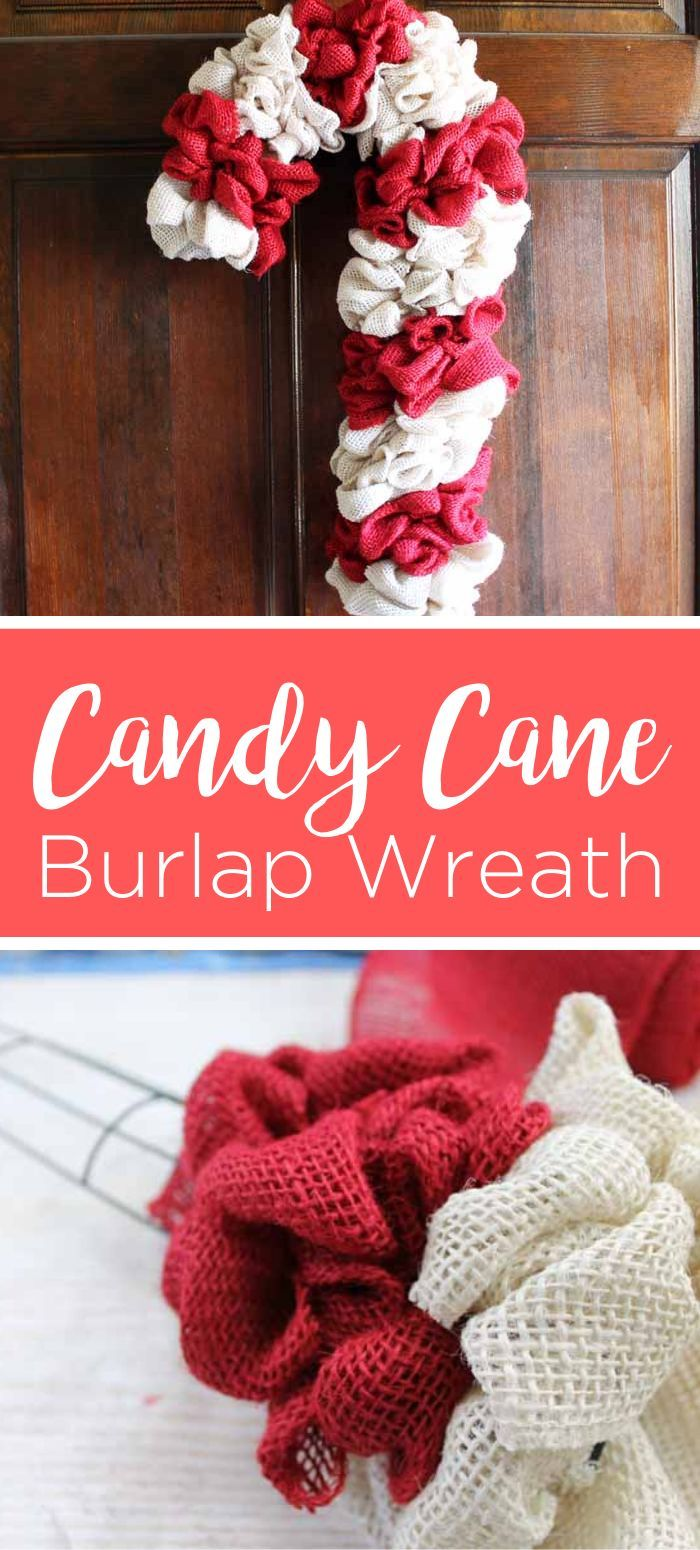 Candy Cane Wreath Make Your Own From Burlap Candy cane