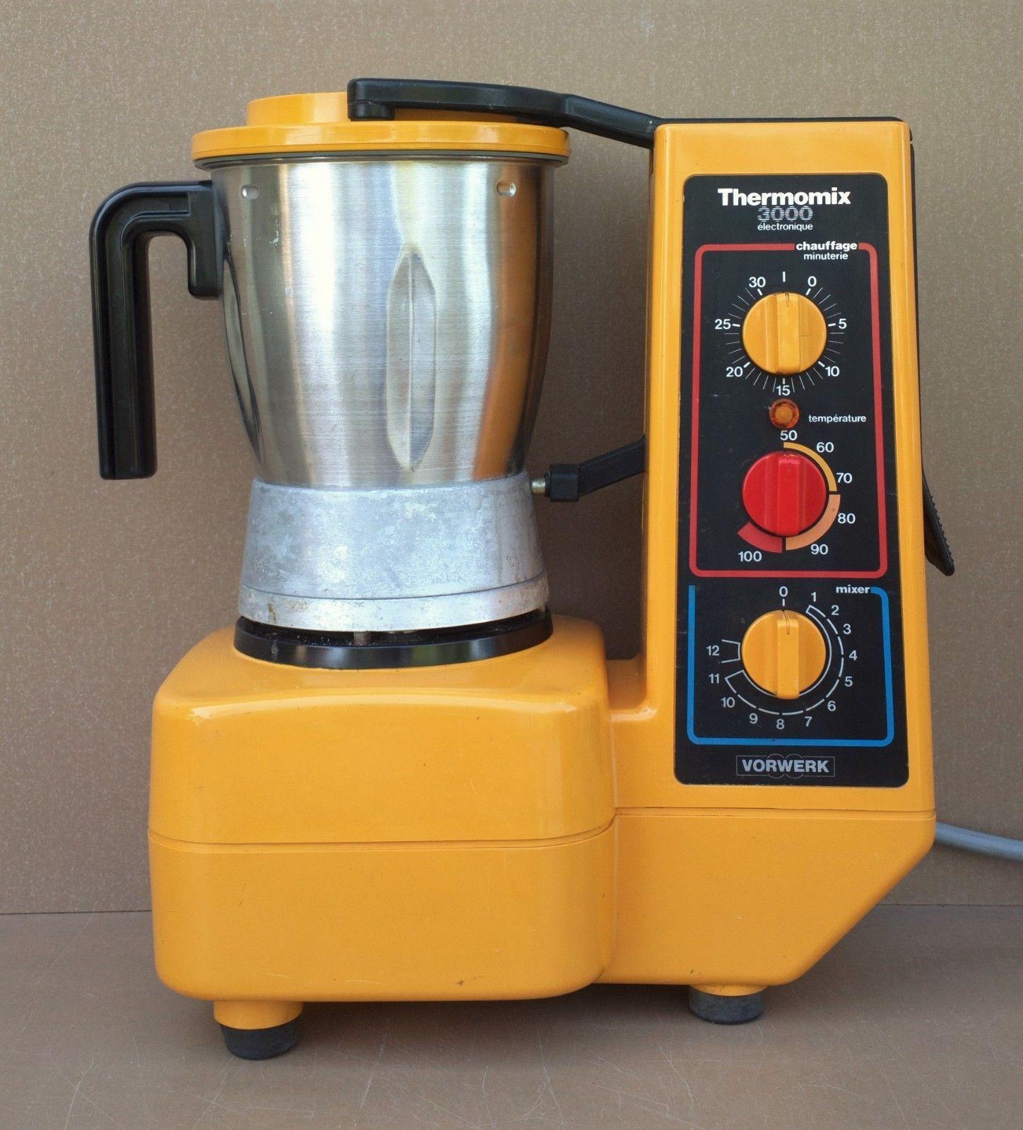 Vorwerk Thermomix 3000 Orange Vintage Chauffe Mixe Robot