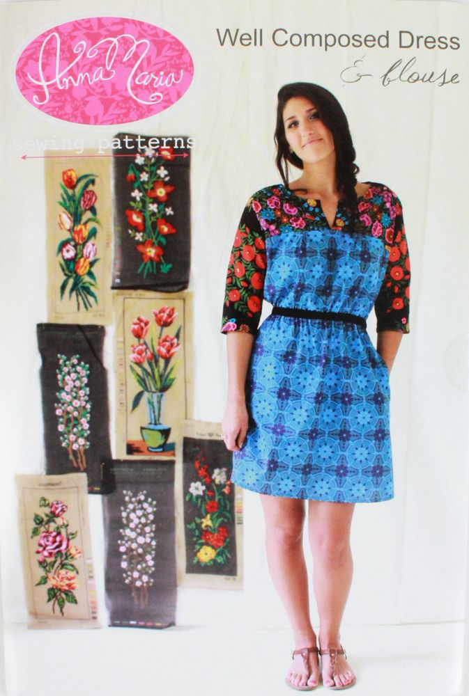 Sewing Pattern, Anna Maria, Well Composed Dress & Blouse | Sewing ...