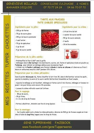 tupperware tarte aux fraises p te sabl e aux sp culos. Black Bedroom Furniture Sets. Home Design Ideas
