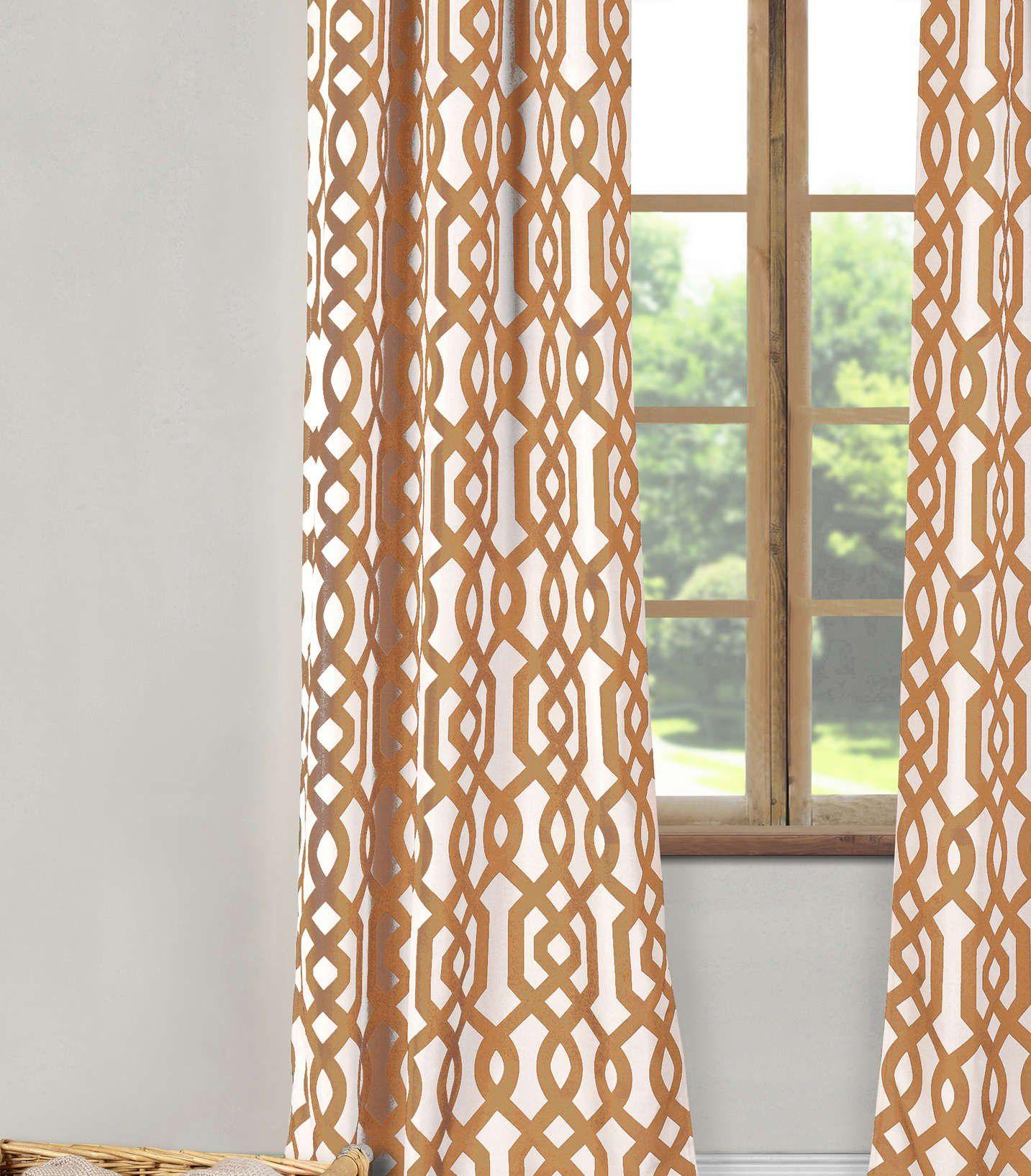 Duck River Textiles Ashmont Printed Textured Grommet Pair Panel 80