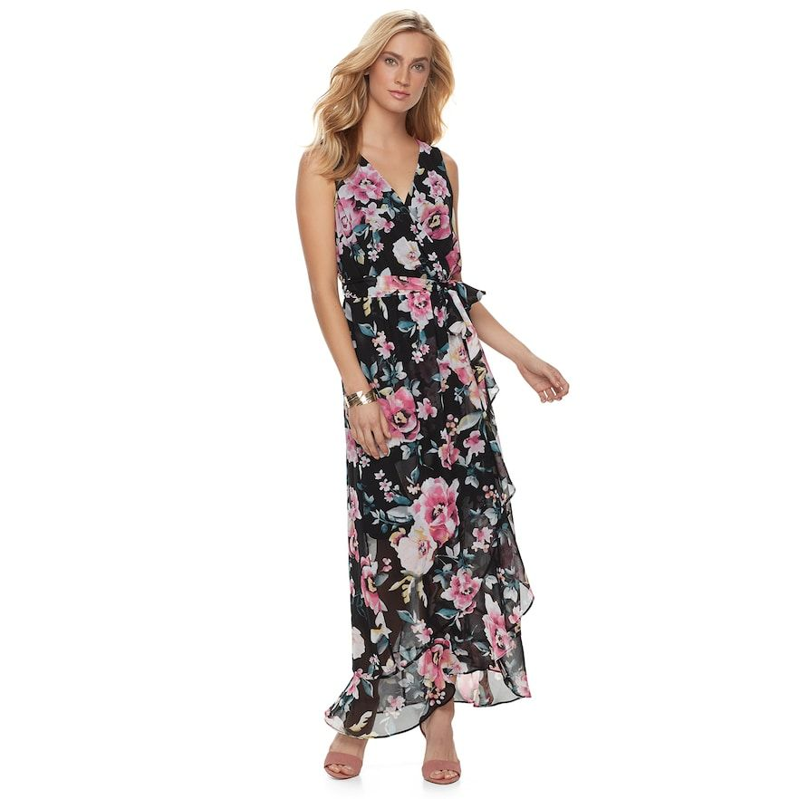 Women s Chaya Ruffle Floral Maxi Dress, Size  2, Oxford   Pinterest 1d1318881935