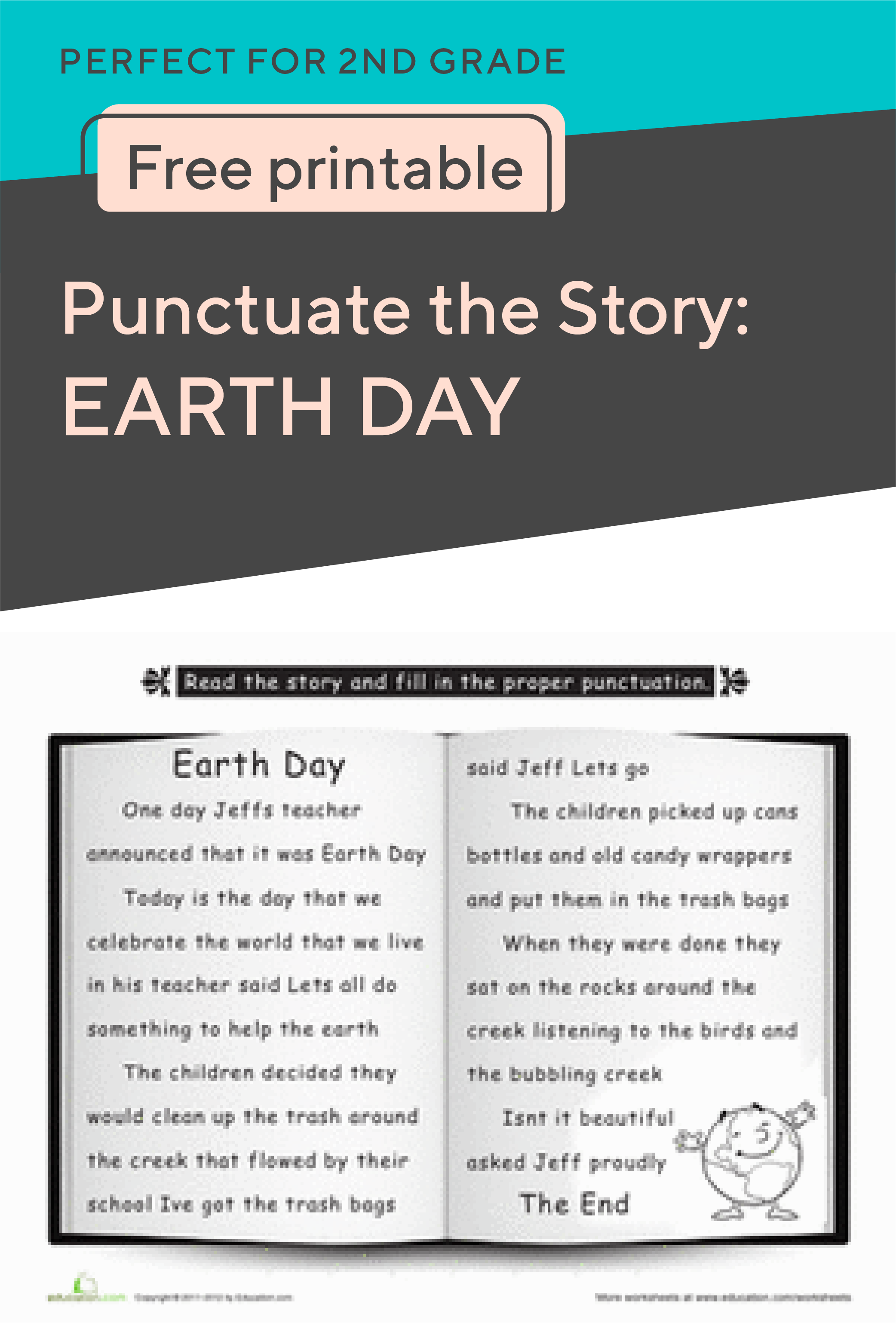 Practice Makes Perfect When It Comes To Punctuation And This Earth Day Themed Printable Is Just Earth Day Worksheets Elementary Activities Learning To Write [ 3126 x 2084 Pixel ]