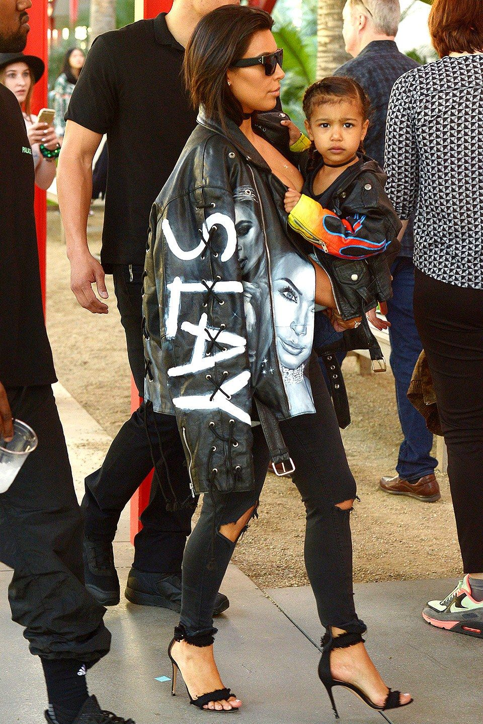 12 Times North West Twinned With Kim And Kanye Kim And Kanye Kim And North Kim Kardashian Style