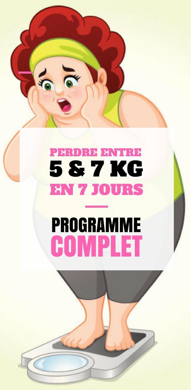 7 jours pour perdre du poids