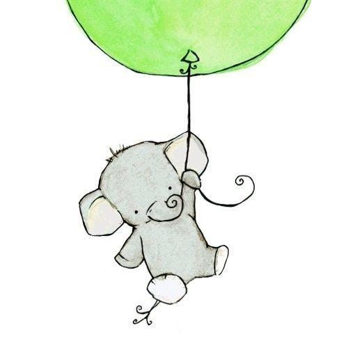 cutest baby elephant ever  elephant nursery art nursery