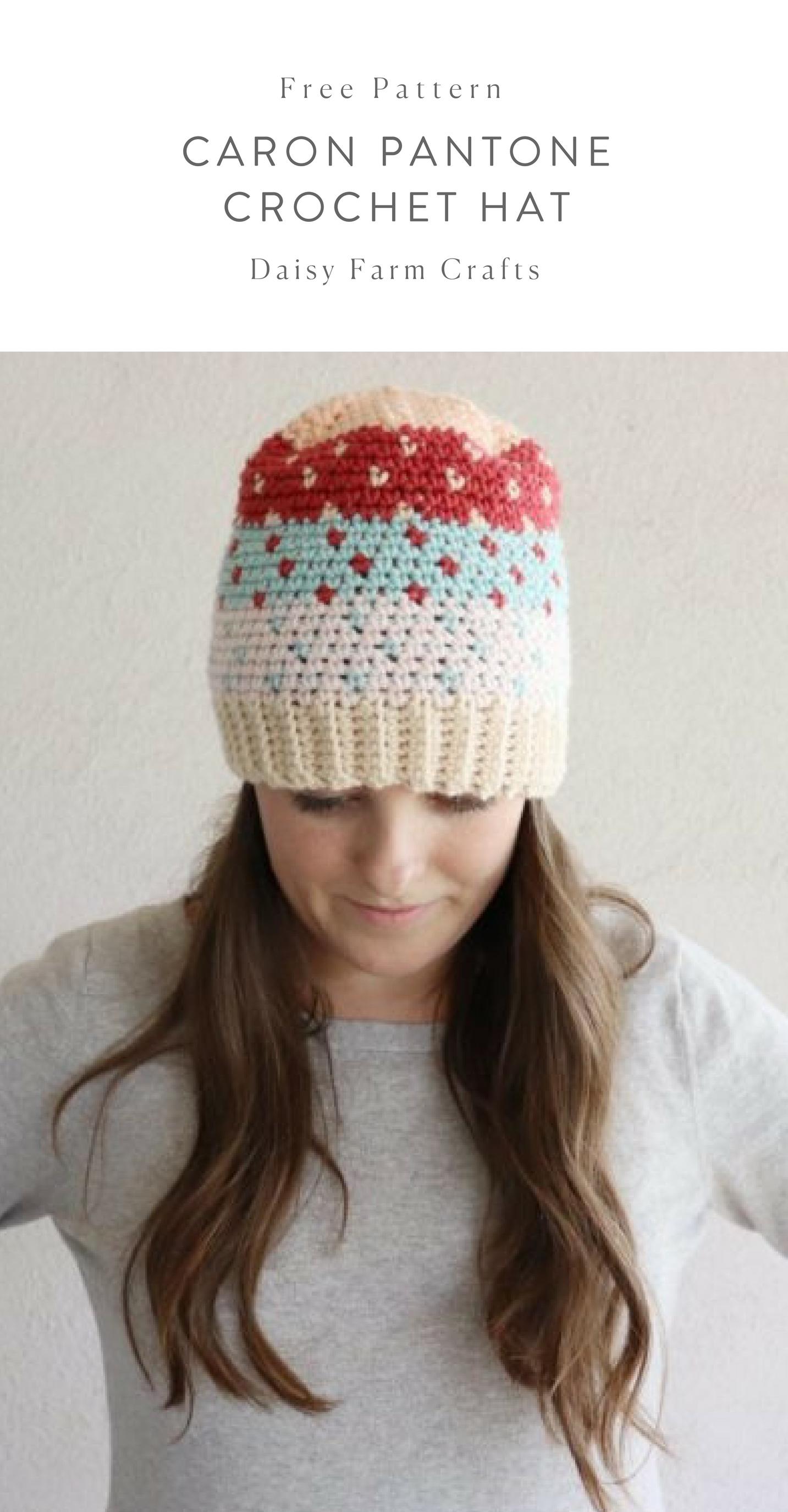 97e86122871 Free Pattern - Caron Pantone Crochet Hat  crochet
