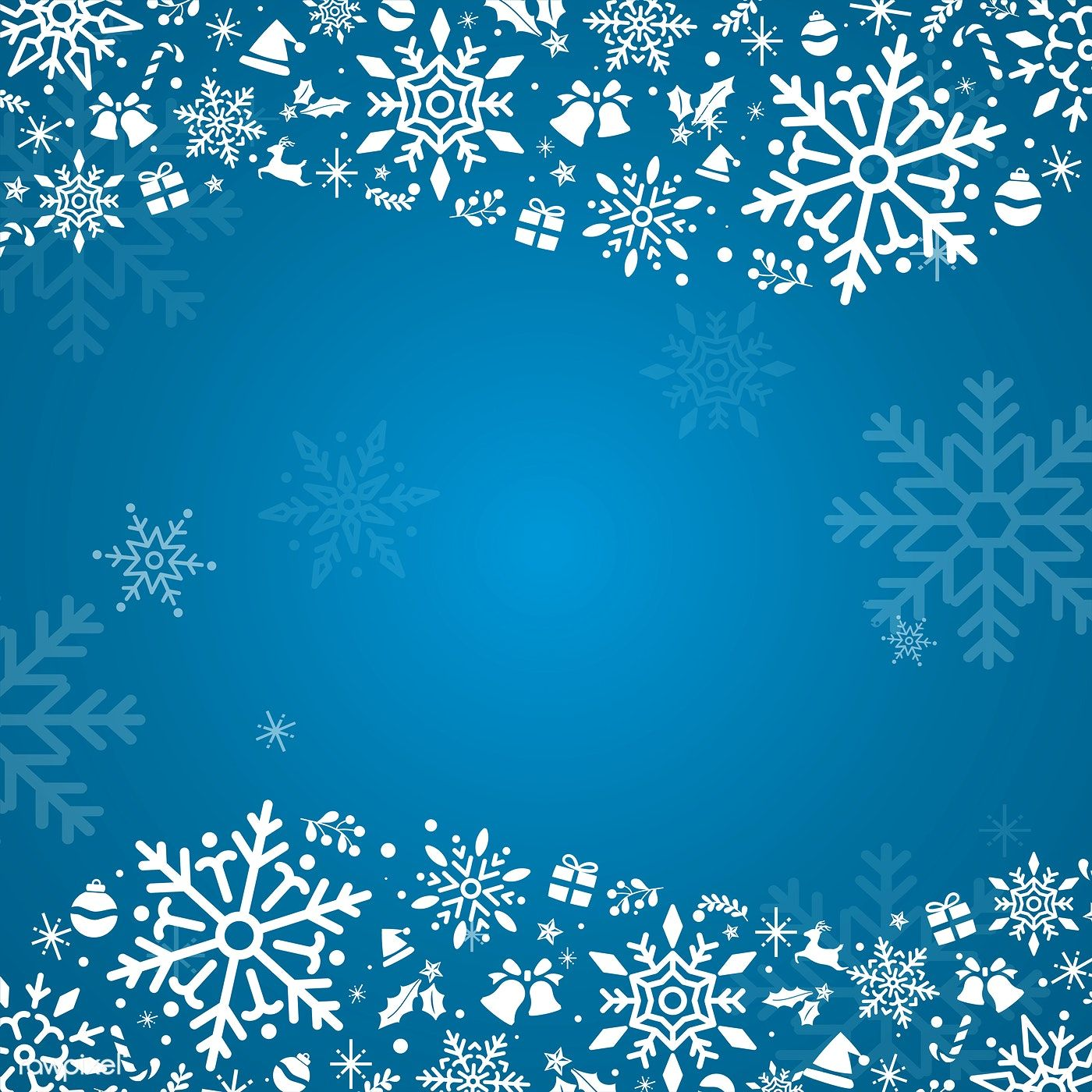 Blue Christmas Winter Holiday Background With Snowflake Vector Free Image By Rawp Free Christmas Backgrounds Free Christmas Greeting Cards Holiday Background