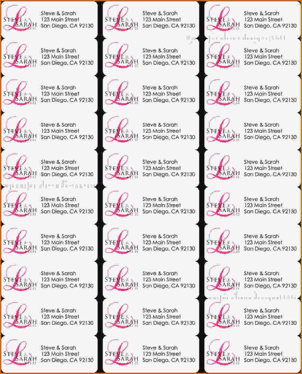 8129 Perfekt 30 Labels Per Sheet Template Review Of Avery