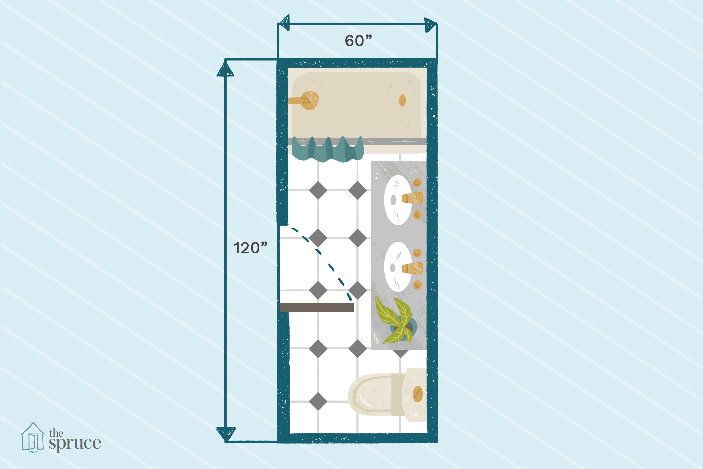 15 Pics Review Narrow Bathroom Floor Plans And Description In 2020 Bathroom Floor Plans Small Bathroom Floor Plans Narrow Bathroom