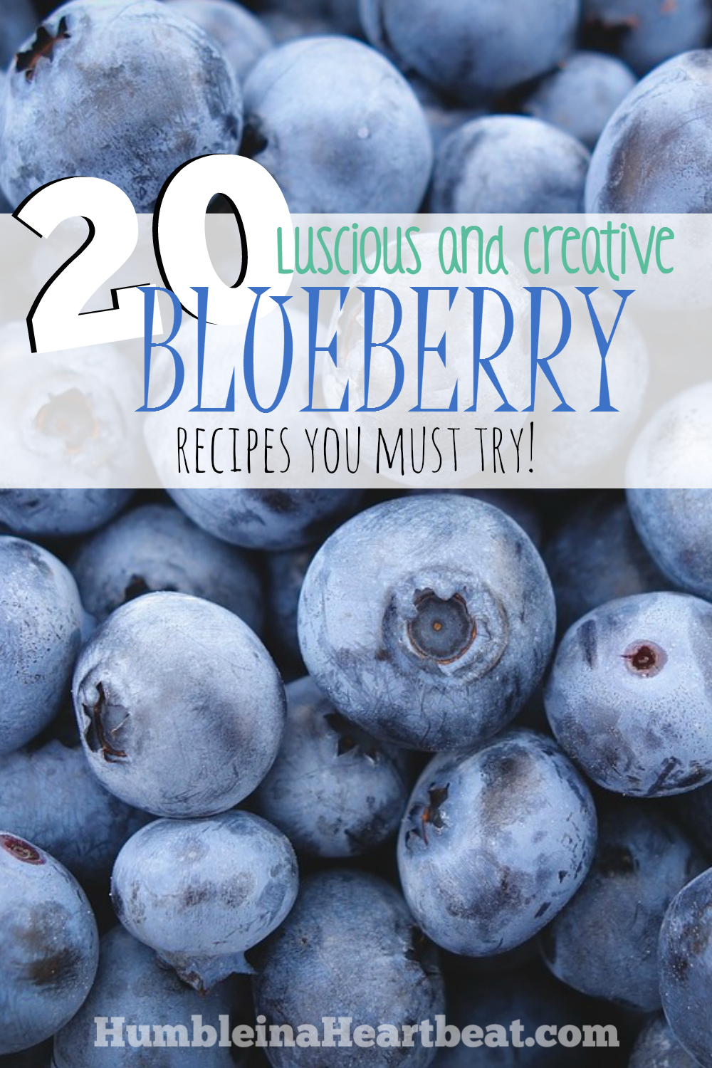 This is an awesome list of 20 recipes containing blueberries! Pinned for when I need ideas to use up blueberries!