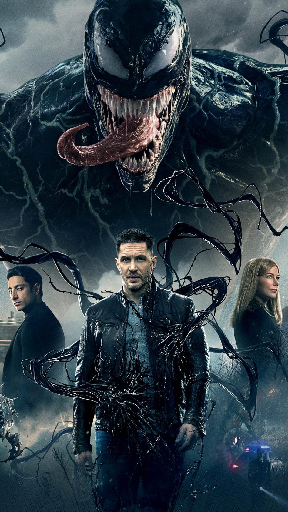 Tom Hardy Michelle Williams Riz Ahmed In Venom Movie Wallpapers