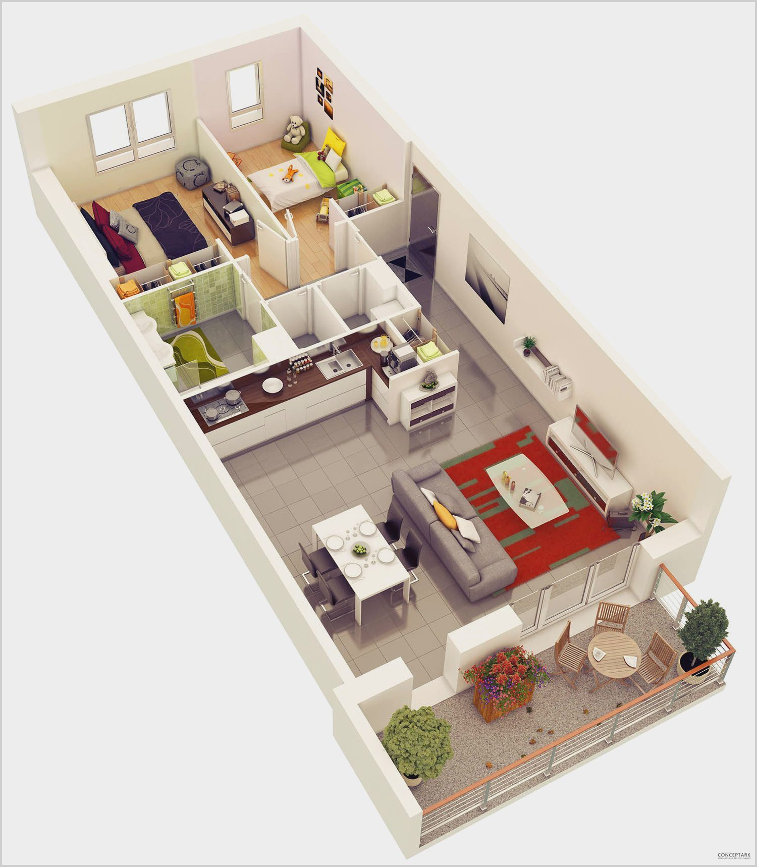 2 Bedroom Flat Interior Design In India in 2020 (With ...