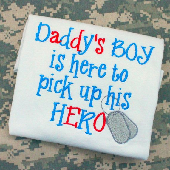 fda28e7c8 Military deployment welcome home shirt for boy. $22 Army, Navy, Air Force,  Marine