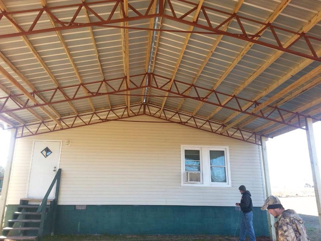 pole barn trusses used for a carport Pole barn homes