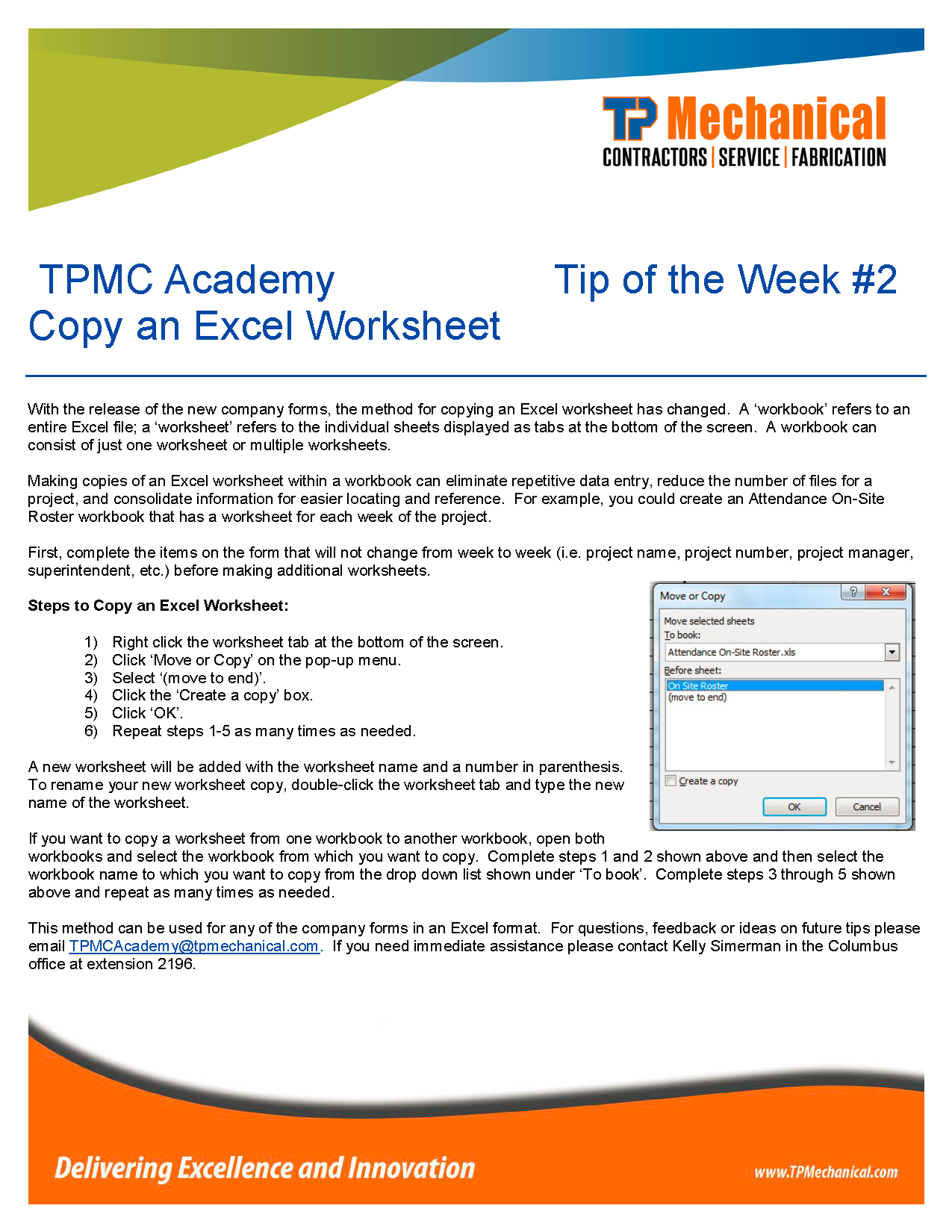 Copy An Excel Worksheet