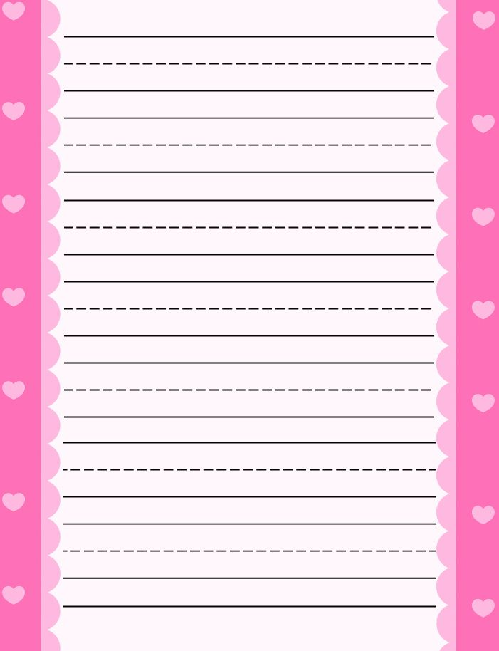 Free printable kids stationery,Primary lined free printable - elementary lined paper template
