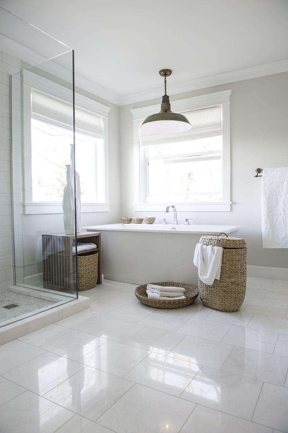 Pin by Tiffany @ Savor Home on Bathrooms | White bathroom ...