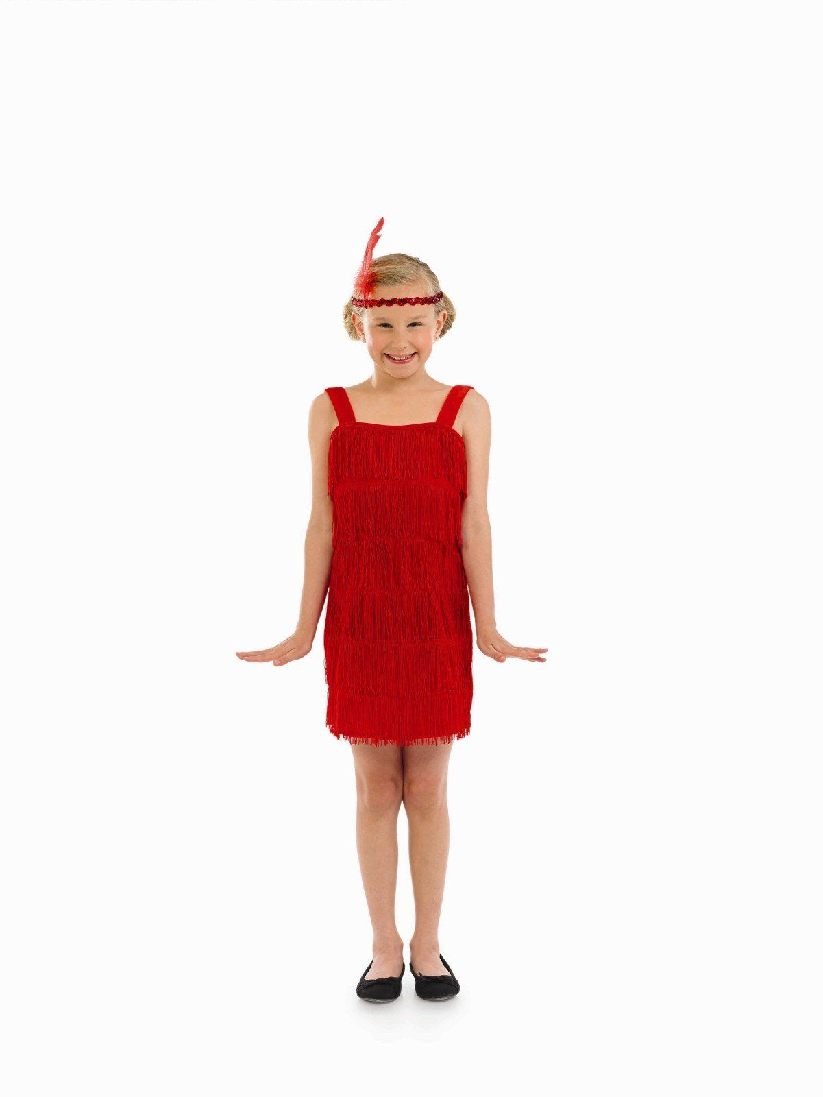 eef2bdb7e Girls Flapper Costume For 20s 30s Moll Fancy Dress Kids Childrens ...